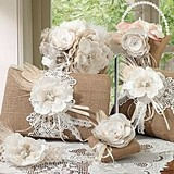 Lillian Rose Burlap and Lace Collection Wedding Accessories Set