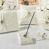Lillian Rose Vintage Cream Lace Collection Wedding Accessories Set