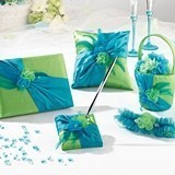 Lillian Rose Vibrant Blue and Green Wedding Accessories Collection