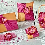 Lillian Rose Hot Pink and Orange Wedding Accessories Collection