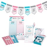 Lillian Rose Gender Reveal Baby Shower 79-Piece Party Set with Games