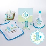 Lillian Rose Little Boy's First Birthday Party Blue Collection