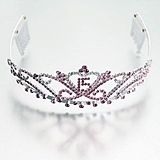 Mis Quince Pink Tiara with Crystals by Lillian Rose