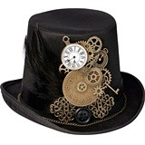 Lillian Rose Steampunk Motif Top Hat Ring Holder
