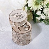 Lillian Rose 'With These Rings …' White-Washed Pine-Wood Ring Holder