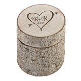 Lillian Rose Monogrammed Rustic Birch-Branch-Replica Ring Holder