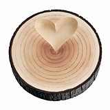 Lillian Rose Tree-Trunk-Shaped Ring Holder with Raised Heart