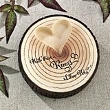 "Lillian Rose ""I Thee Wed"" Tree-Trunk Ring Holder with Raised Heart"