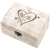 Lillian Rose Monogrammed Rustic Wedding Ring and Vow Box