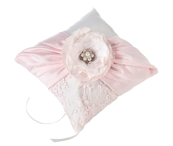 Blush Pink Ring Pillow by Lillian Rose