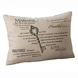 "Lillian Rose ""Keys to Marriage"" Christian Verses Ring Pillow"