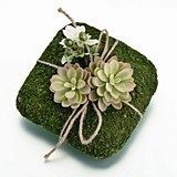 Enchanting Moss-Covered Ring Pillow by Lillian Rose