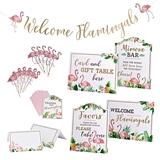 Lillian Rose Flamingo Theme Bridal Shower Decor Set