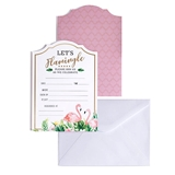 Lillian Rose Flamingo Theme Bridal Shower Invitation (Set of 24)