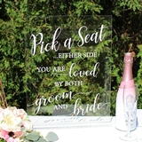 Lillian Rose Clear Acrylic Wedding Seating Sign