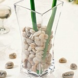 Lillian Rose Monogrammed Flared Vase with Guest Signing Stones Set