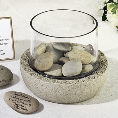Lillian Rose Glass Display Vase For Signing Stones