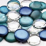 Lillian Rose Glass Signing Stones (6 Colors) (Package of Approx. 45)