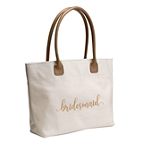 Gold Script Design Bridal Party Tote Bag (Bride, Bridesmaid or MOH)