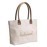 Gold Script Design Bridal Party Tote Bag (Bride, Bridesmaid or MOH)