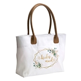 Botanical Design Bridal Party Tote Bag (Bride, Bridesmaid or MOH)