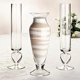 Lillian Rose Heart-Themed Glass Unity Sand Vase Set
