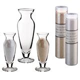 Lillian Rose Wedding Unity Sand Ceremony 3-Vase Setwith Sand