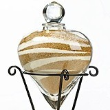 Heart-Shaped Unity Sand Vase with Stand by Lillian Rose