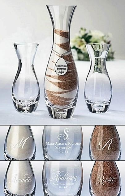Lillian Rose Personalized Together Forever Unity Vase Sand Set