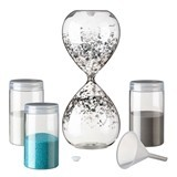 Lillian Rose Hour Glass Unity Sand Set with Funnel & 3 Colors of Sand