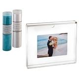 Lillian Rose Clear Acrylic Unity Sand Ceremony Photo Frame Set w/ Sand