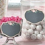 Lillian Rose Large Chalkboard & Floral Motif Glass Clings (Set of 12)