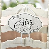 "Vintage-White-Wash-Style ""Mr. & Mrs."" Chair Signs (Set of 2)"