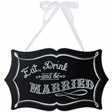 Chalkboard Eat, Drink and Be Married Sign by Lillian Rose