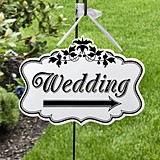 Double-Sided Wedding Direction Sign by Lillian Rose