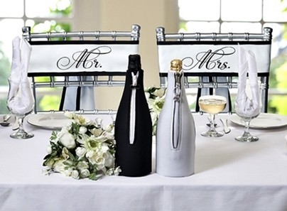 Mr. and Mrs. Satin Chair Sashes by Lillian Rose