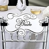 Bride and Groom Chair Signs by Lillian Rose