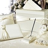 Lillian Rose Ivory Sash Wedding Accessories Set in a Card Box