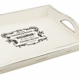 Lillian Rose Personalized True Love Design Antique White Tray