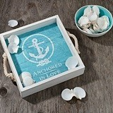 Lillian Rose 'Anchored in Love' Wedding Tray and Signing Shells Set