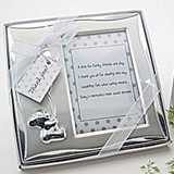 Artisano Designs Bear's Best Wishes Brushed Photo Frame in Gift Box