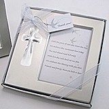 Artisano Designs Bless this Day Cross Photo Frame Favor in Gift Box