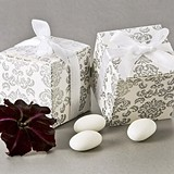 Artisano Designs Classic Damask Favor Boxes in Silver (24 Pack)