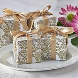 Artisano Designs Classic Damask Favor Boxes in Gold (24 Pack)