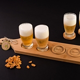 Artisano Designs 'Cheers!' Beer Flight - Tasting Paddle with Coasters