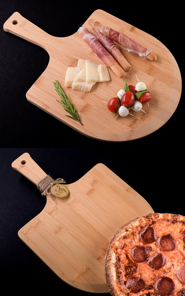 Artisano Designs Gourmet Pizza Peel and Charcuterie Board