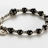 Artisano Designs 'Blessings' Rosary Bracelet with Hematite Beads
