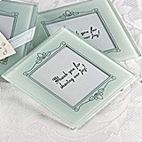 Memories Forever Frosted Glass Photo Coasters (Set of 2)