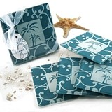 Artisano Designs 'Tropical Breeze' Palm Tree Glass Coasters (Set of 4)