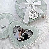 Heartfelt Memories Frosted Heart Photo Coasters (Set of 2)